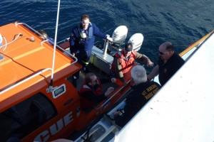 Paramedics and Crew board the Break O'Day