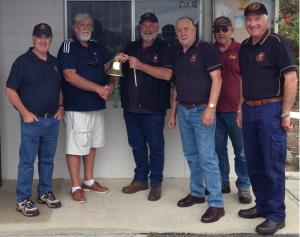 Sea Guardian Bell presentation by President John Dearing to John Brauer  in the company of Trevor Preece, Ken Clark, Jim Imlach and John Sullivan