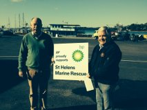 Terry Brown of BP Australia and Vice President Paul Young